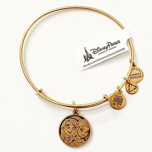 Disney Alex and Ani Frozen Anna & Elsa Bangle